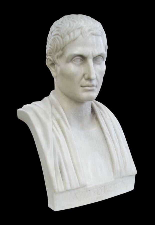 古老亚里斯多德哲学家 库存图片