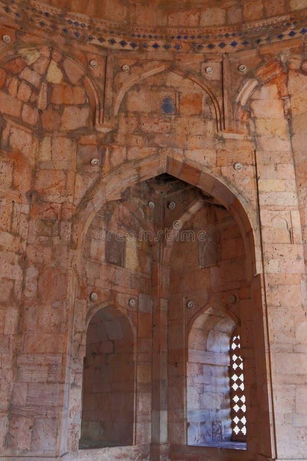 古老伊斯兰教的建筑学, jami masjid, mandav,中央邦,印度 库存图片