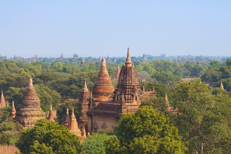 古老佛教寺庙在Bagan 免版税库存图片