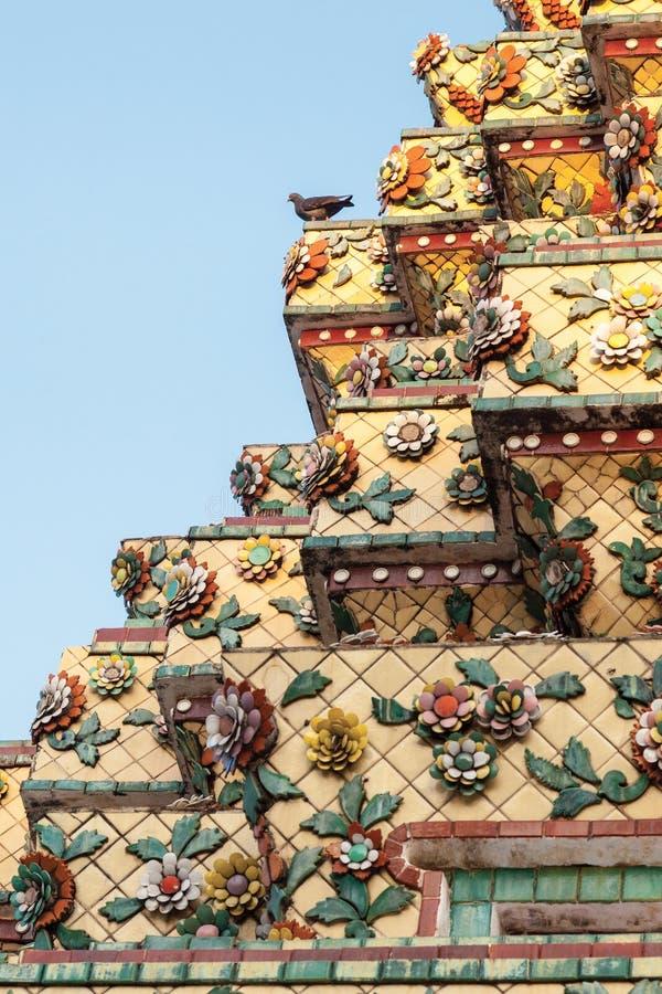 古老佛教寺庙的细节 库存照片