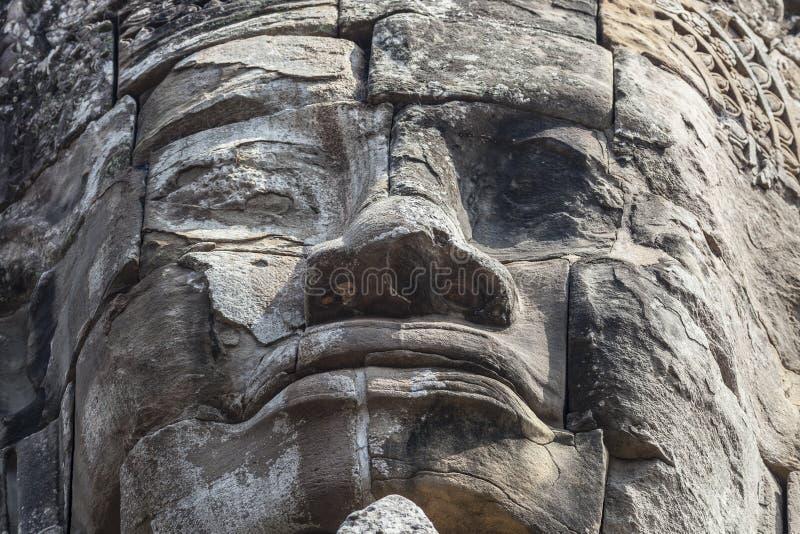 古老佛教废墟细节  免版税库存照片