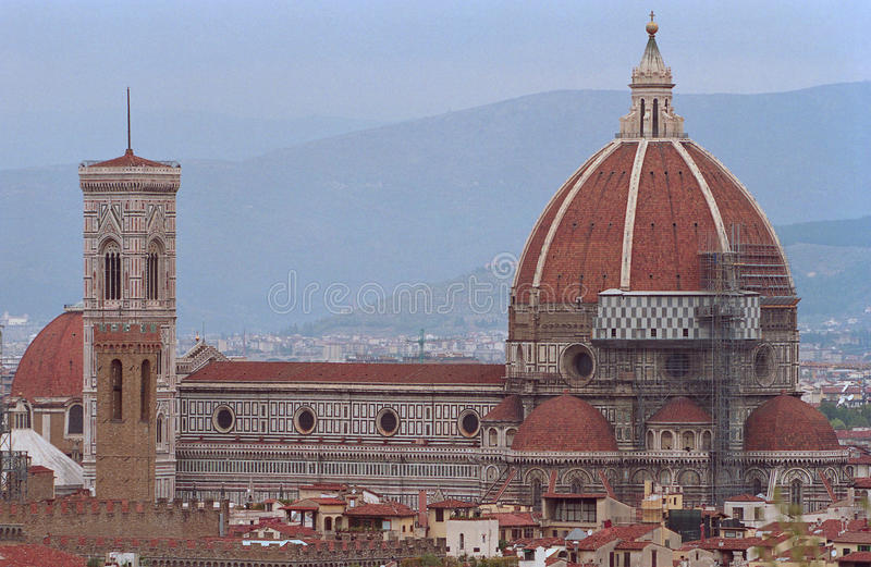 古老佛罗伦萨意大利城镇 免版税库存图片