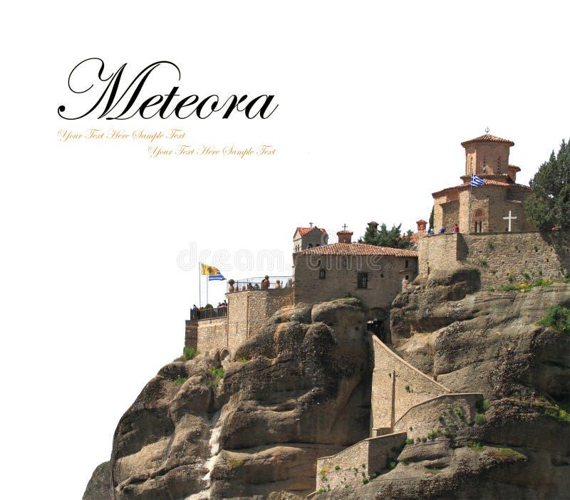 古老修道院在Meteora 图库摄影