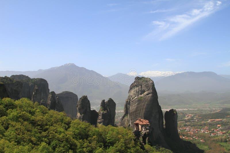古老修道院在Meteora 库存照片
