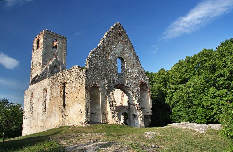 古老修道院废墟 库存照片