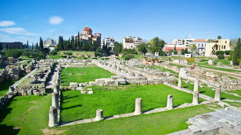 古老公墓在雅典Kerameikos希腊 免版税库存照片