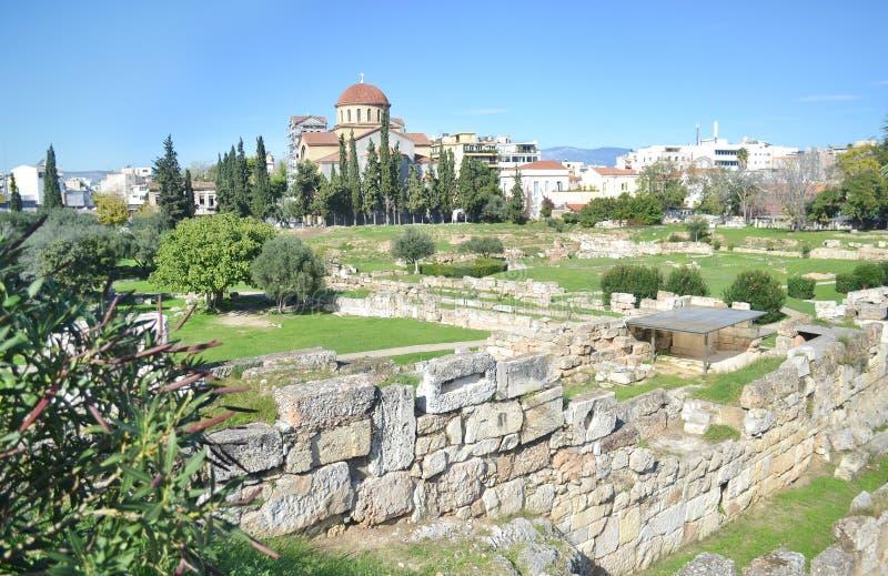 古老公墓Kerameikos雅典希腊 免版税库存图片
