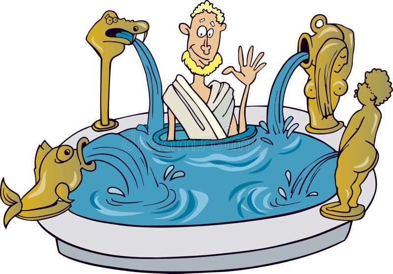 古老公民罗马 皇族释放例证