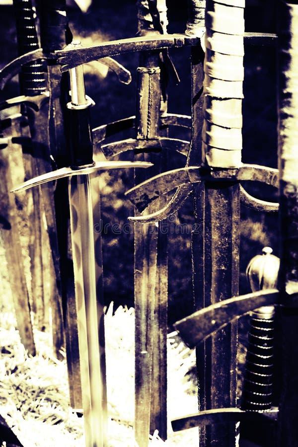 古老剑 库存图片