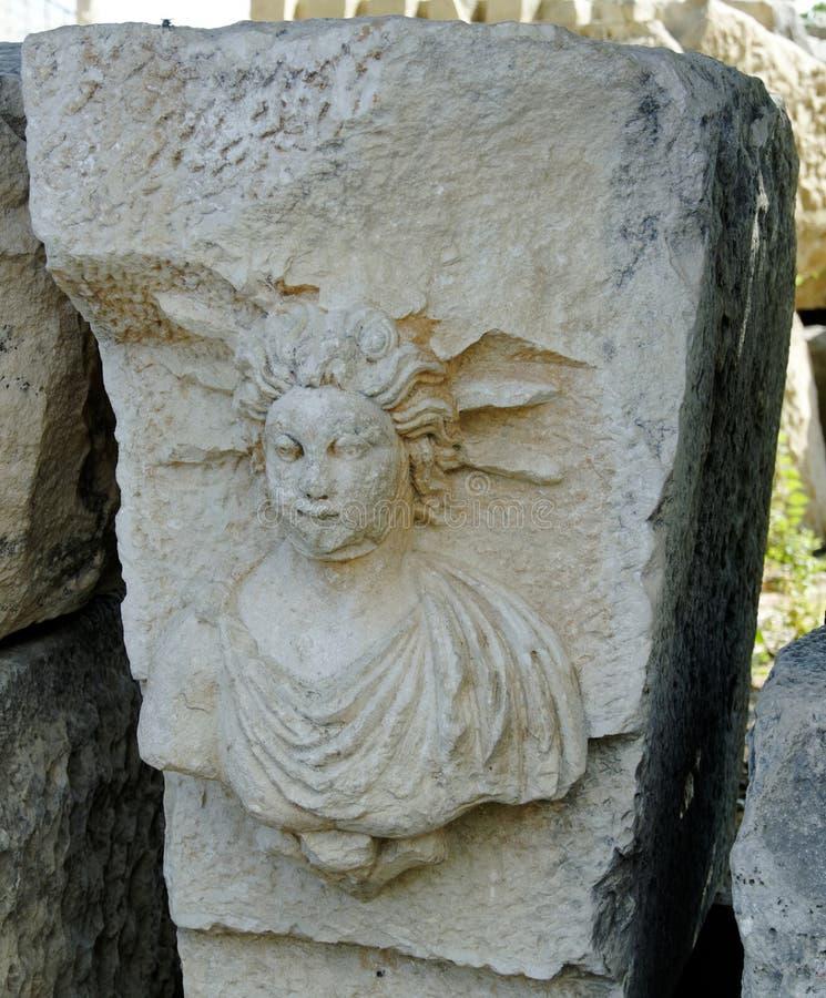 古老剧院废墟在Xanthos 库存图片