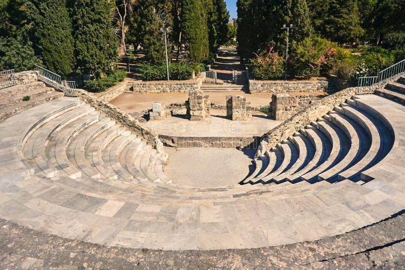 古老剧院的废墟 免版税库存图片