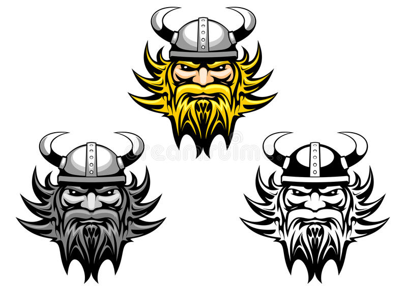 古老北欧海盗 向量例证