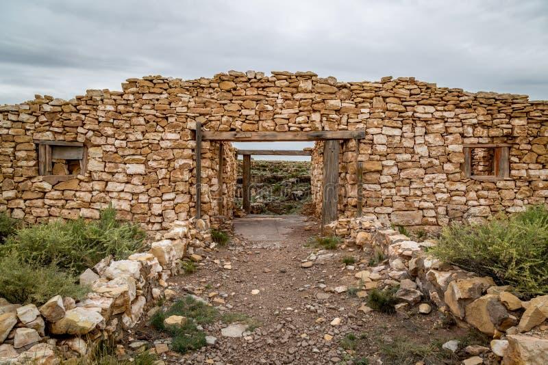 古老印地安人废墟 免版税库存照片