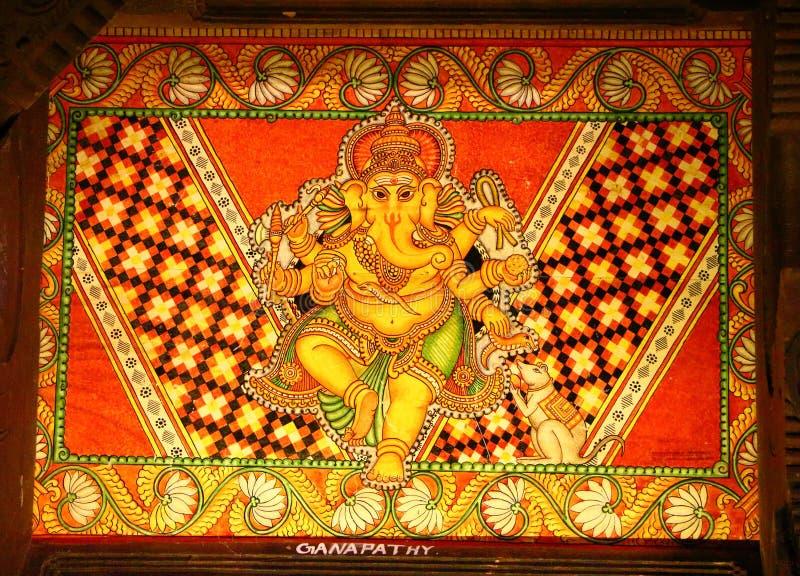 古老印地安绘画 民间传说博物馆 免版税库存照片