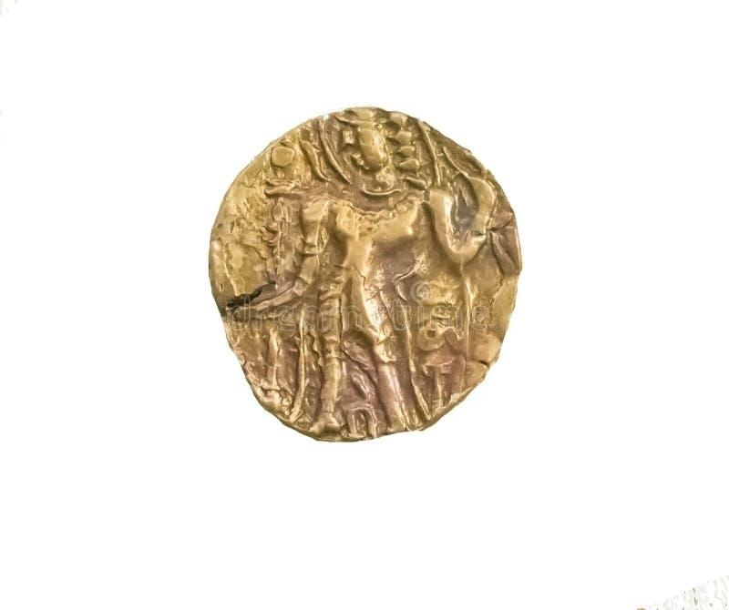 古老印度古普塔朝代金币阿切尔类型 库存图片