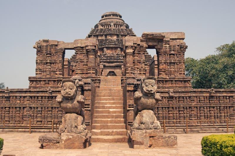 古老印度konark寺庙 免版税库存照片