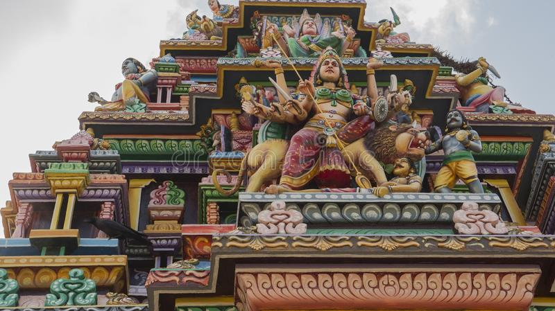 古老印度Pathirakali阿曼寺庙在亭可马里,斯里兰卡 库存照片
