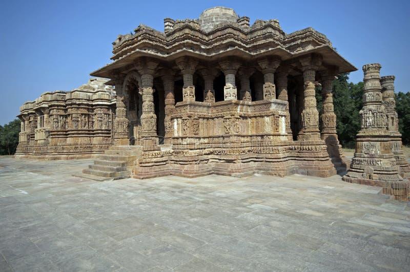古老印第安寺庙 免版税库存照片