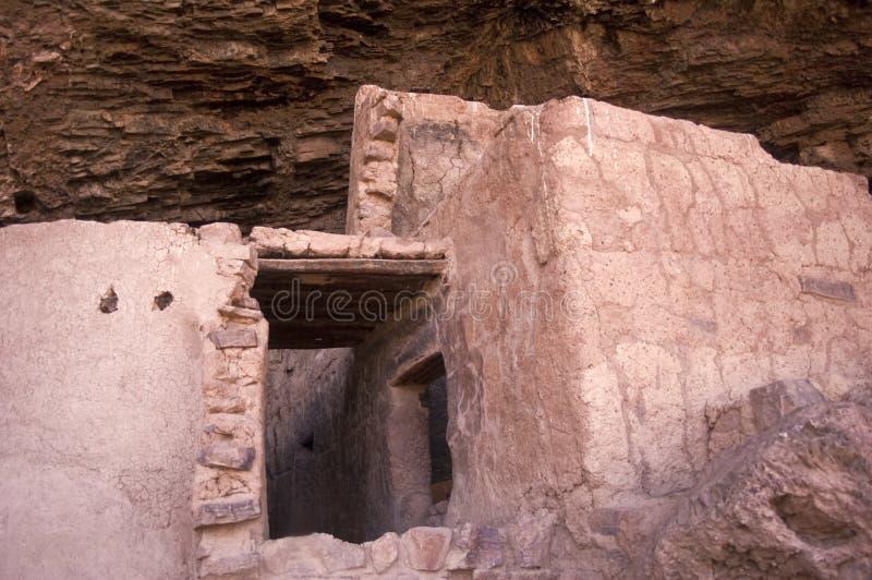 古老印第安镇废墟 库存图片