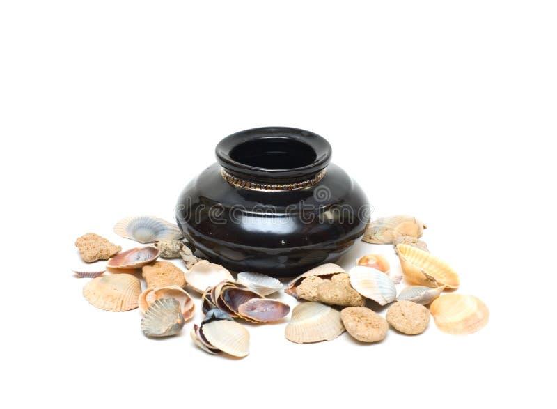 古老古色古香的希腊花瓶 库存照片