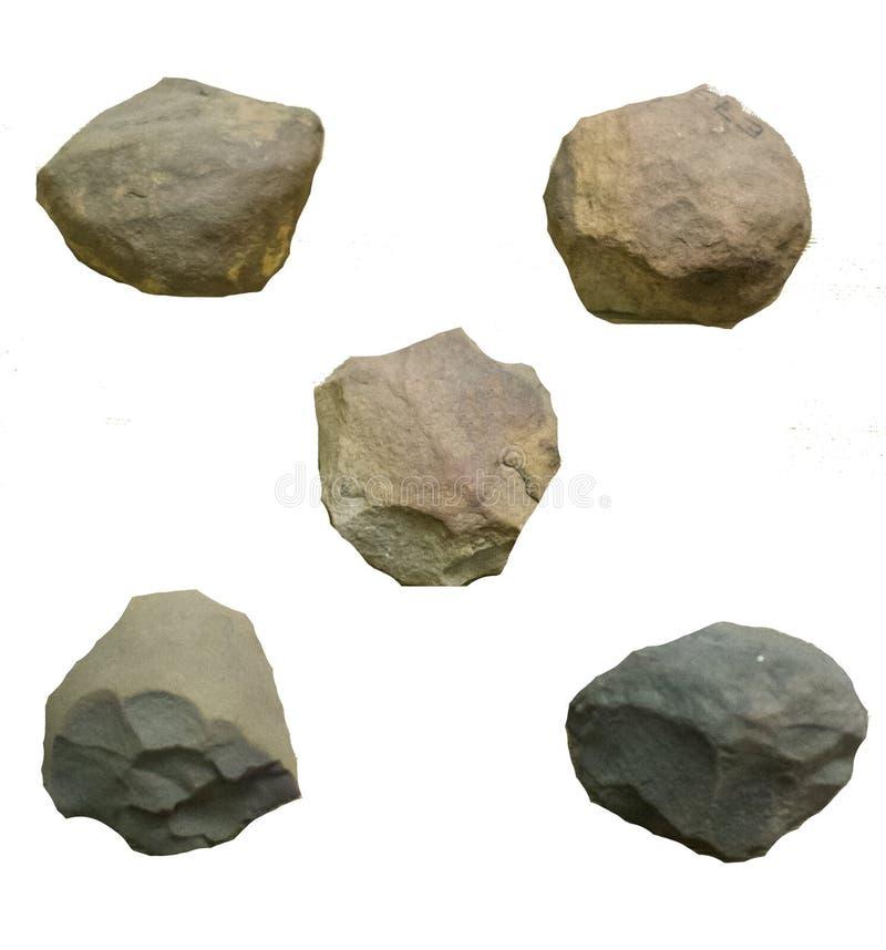 古老史前石器时期工具 免版税库存图片