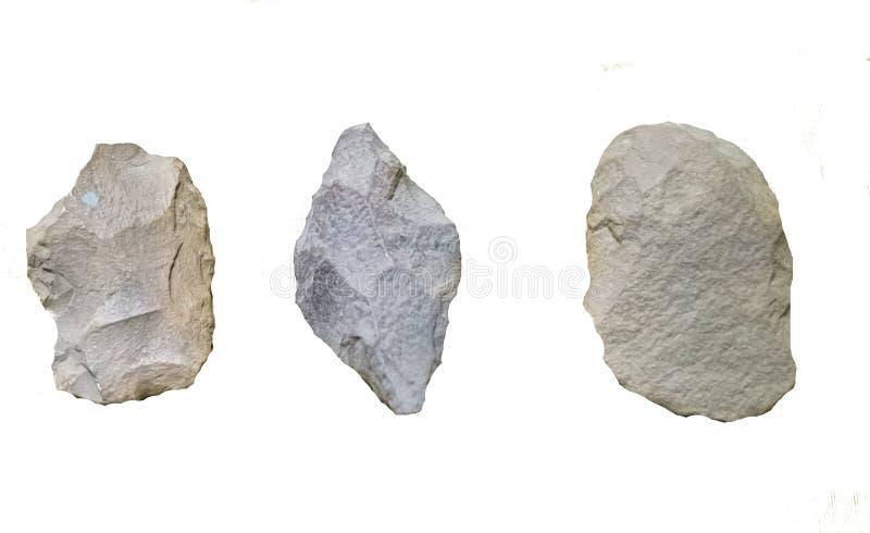 古老史前石器时期工具 免版税库存照片