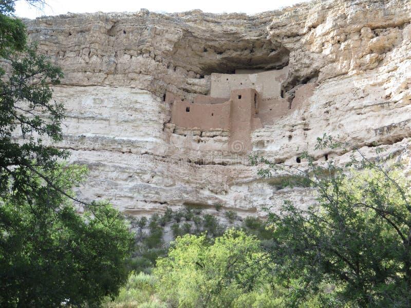 古老哥伦布发现美洲大陆以前窑洞在亚利桑那 免版税库存照片
