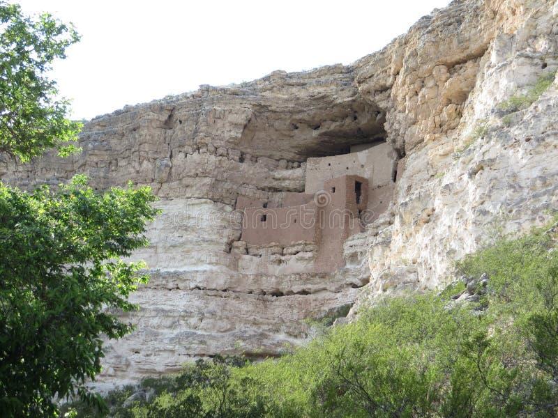 古老哥伦布发现美洲大陆以前窑洞在亚利桑那 库存图片