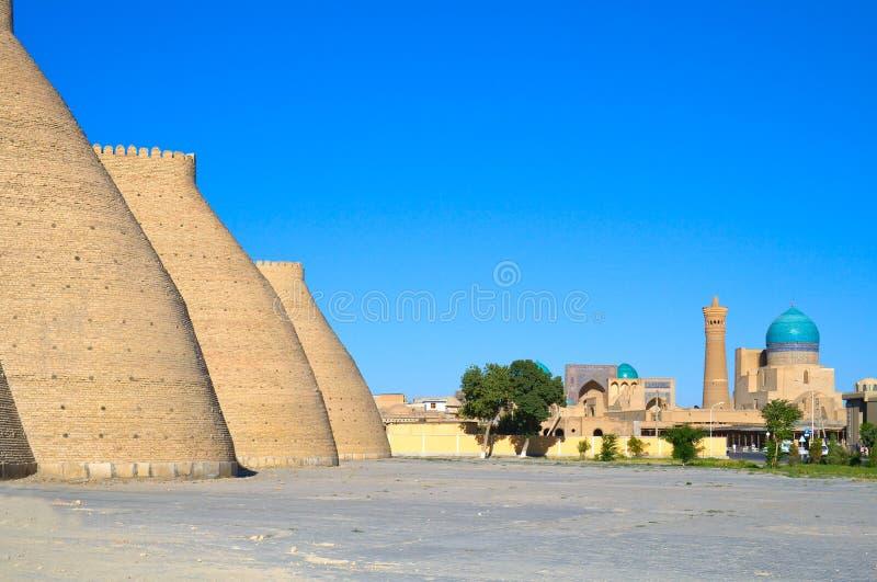 古老回教结构上复杂,乌兹别克斯坦 免版税图库摄影