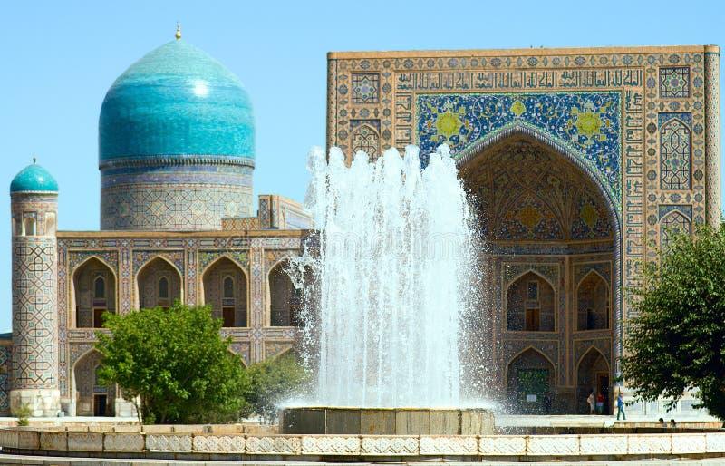 古老回教结构复杂,乌兹别克斯坦 库存照片
