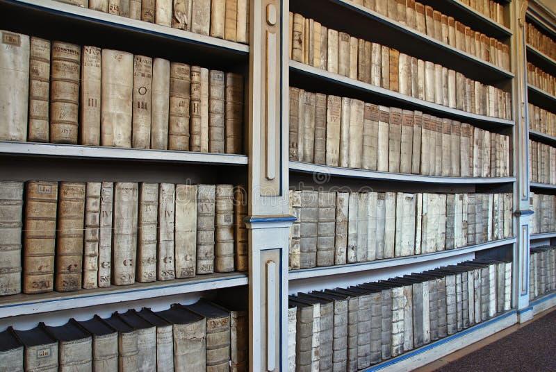 古老图书馆 免版税图库摄影
