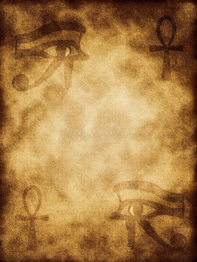 古老埃及符号 库存例证