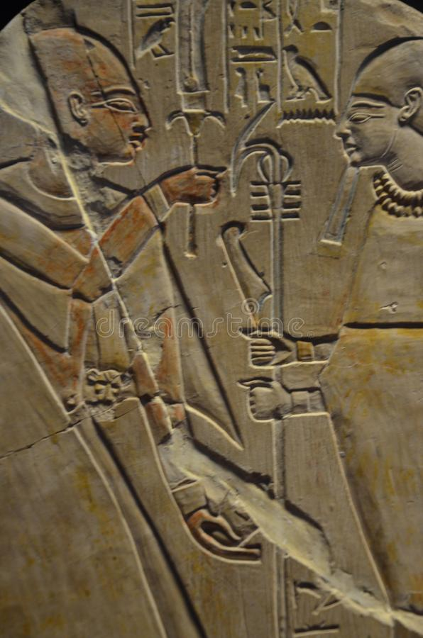 古老埃及脚本 免版税库存图片