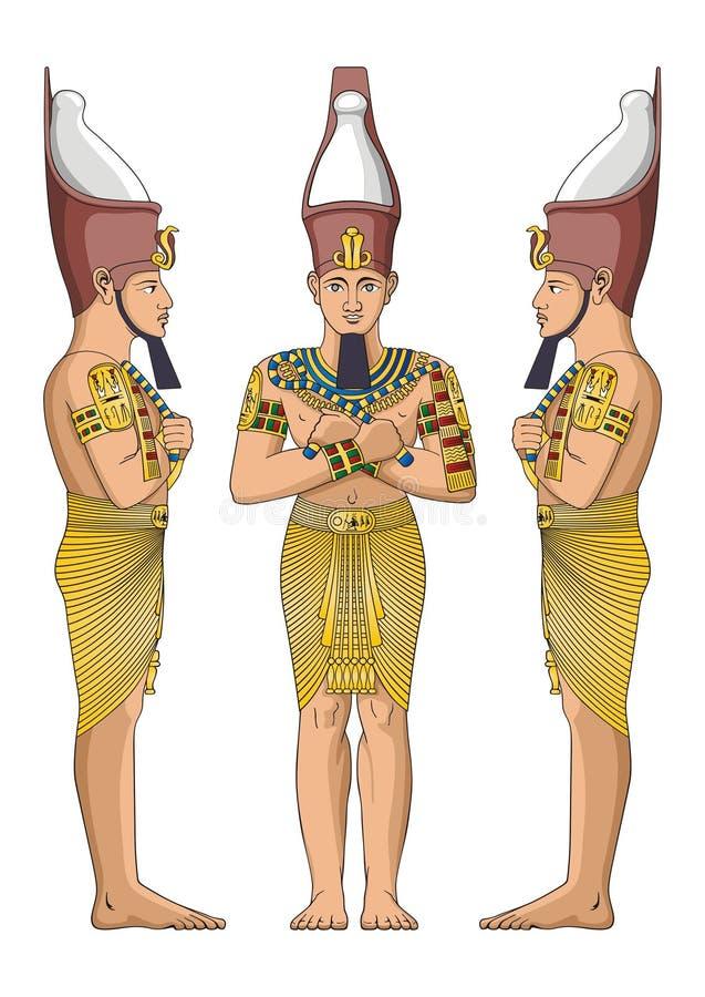 古老埃及贵族 向量例证