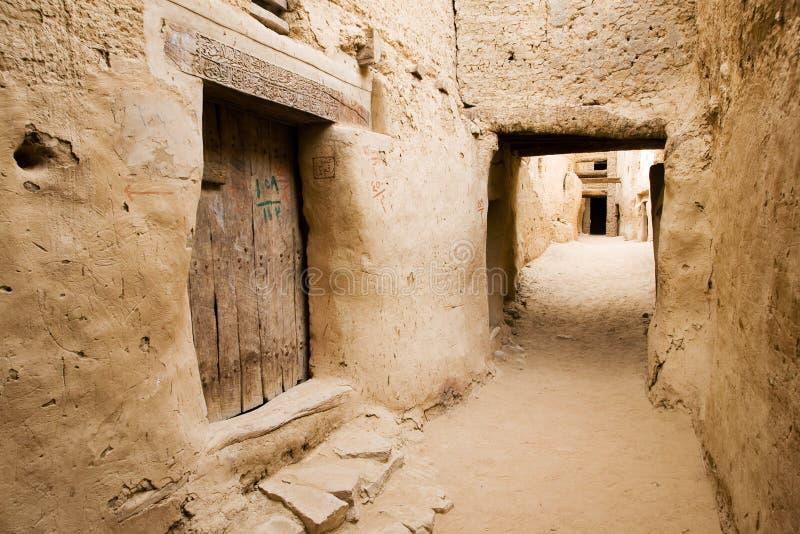 古老埃及el qasr废墟 库存图片