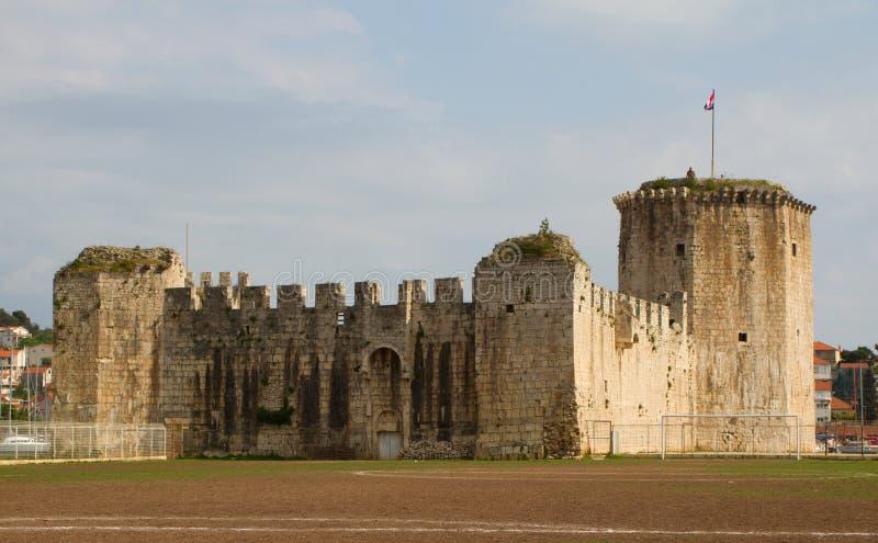 古老城堡克罗地亚trogir 免版税库存照片