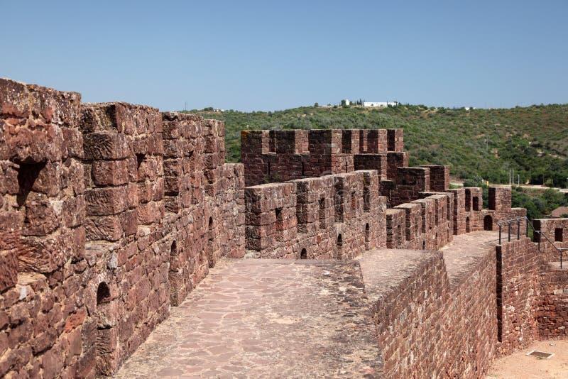 古老城堡葡萄牙silves 免版税库存图片