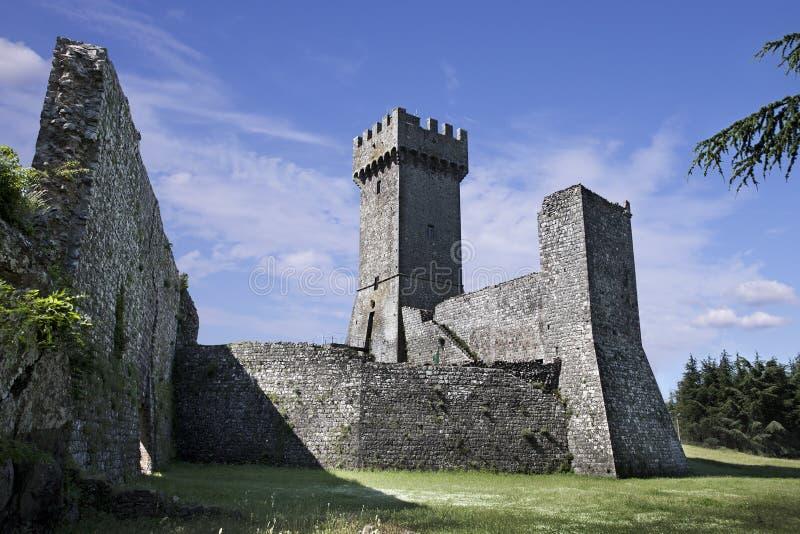 古老城堡Rocca在Radicofani。意大利 免版税图库摄影