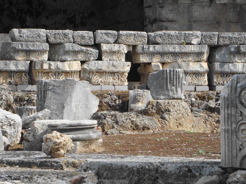 古老城市的废墟 免版税库存照片