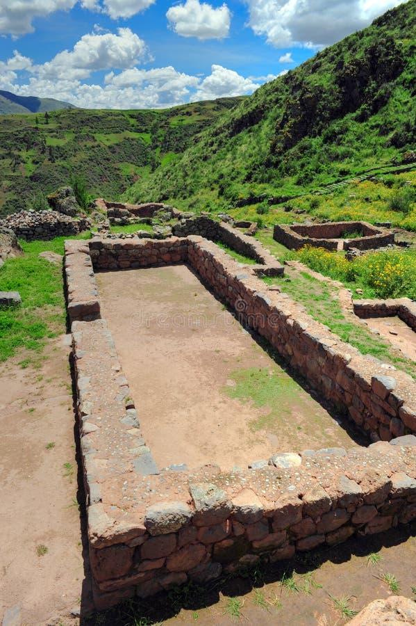古老城市秘鲁废墟 免版税图库摄影