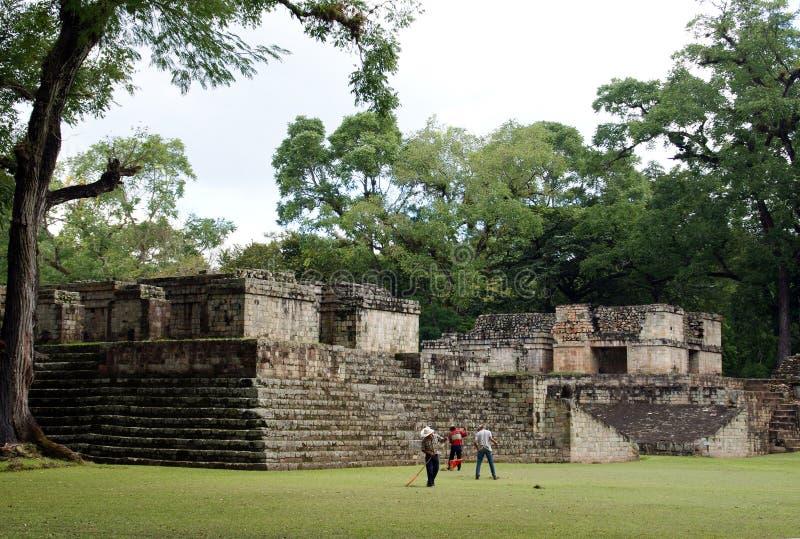 古老城市copan玛雅 图库摄影