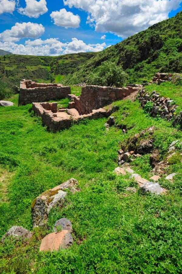 古老城市fo秘鲁废墟 图库摄影