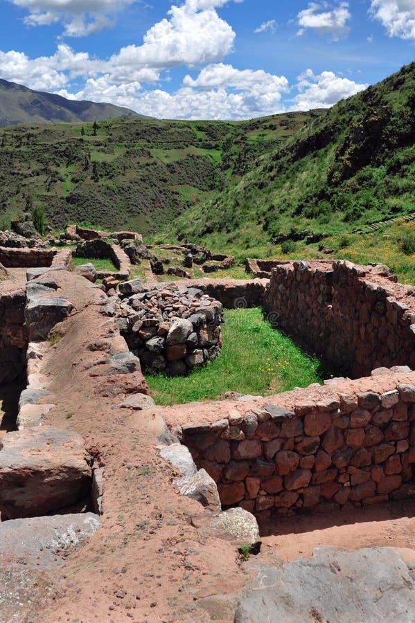 古老城市inka废墟 库存照片