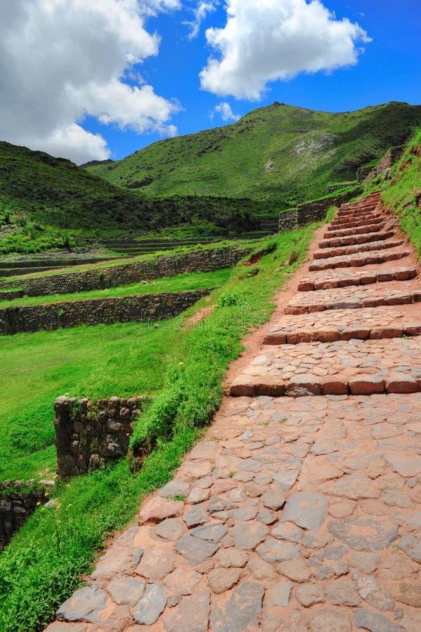 古老城市pathfoot秘鲁石头 库存照片