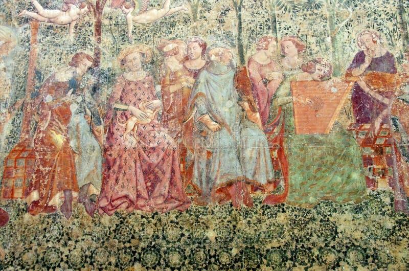 古老基督徒壁画 库存图片