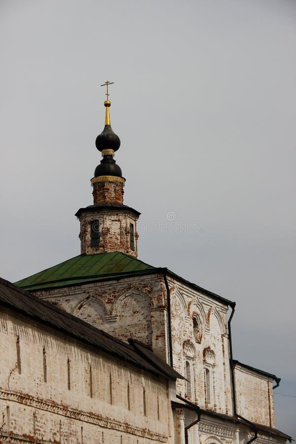 古老基督徒大教堂的圆顶 库存照片