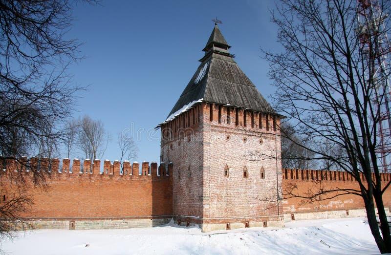 古老堡垒克里姆林宫在斯摩棱斯克,俄罗斯 免版税图库摄影