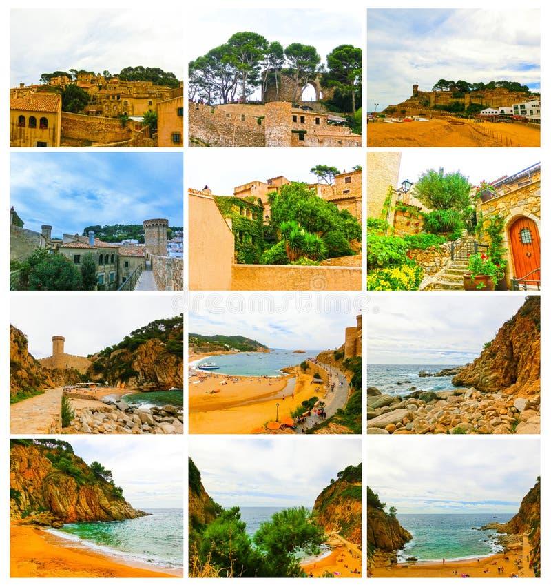 古老堡垒看法在Tossa de 3月 肋前缘Brava,西班牙 免版税库存图片