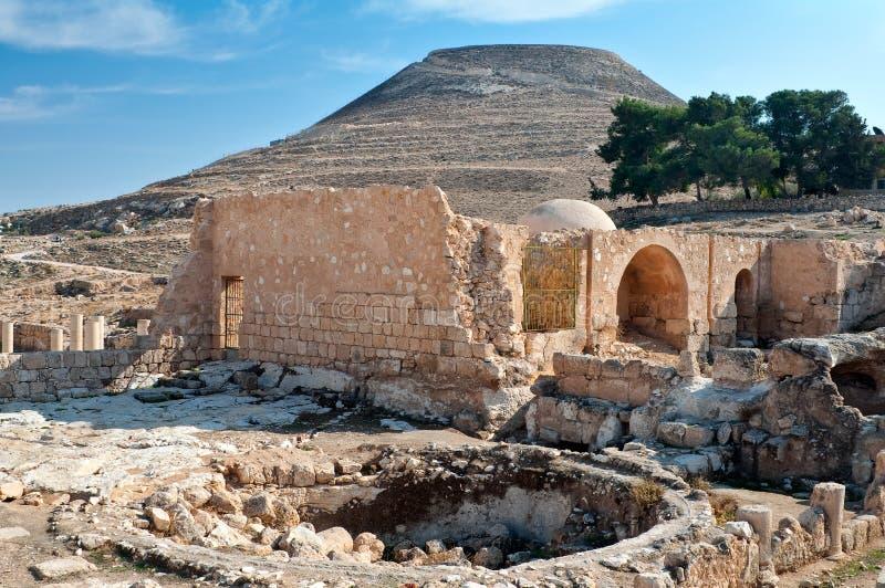 古老堡垒herodium 免版税库存图片