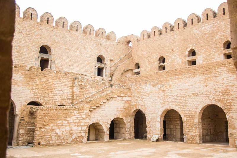 古老堡垒ribat在苏斯 库存图片